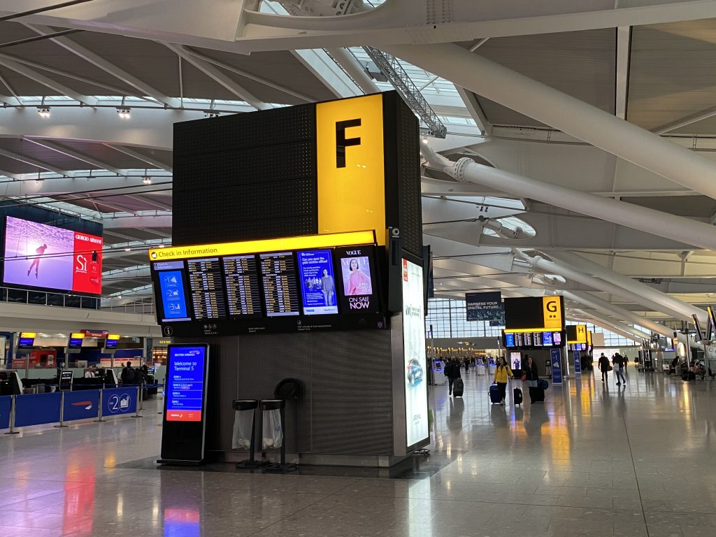 Arrival at Heathrow Terminal 5