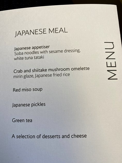 Menu - Japanese Meal
