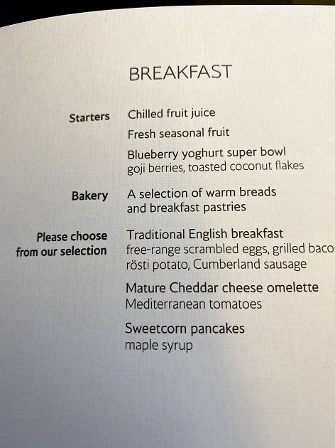Menu - Breakfast