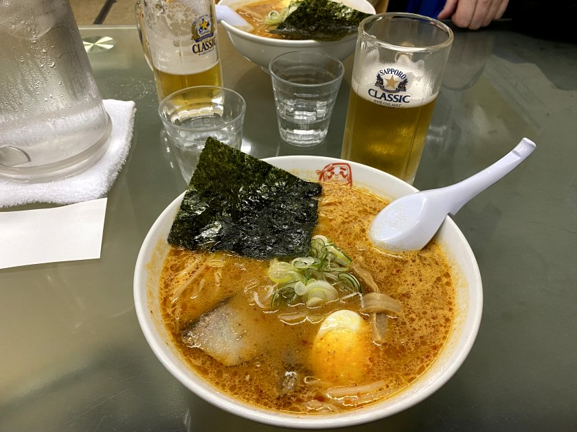 The result - very spicy but absolutely delicious (bowl of ramen)