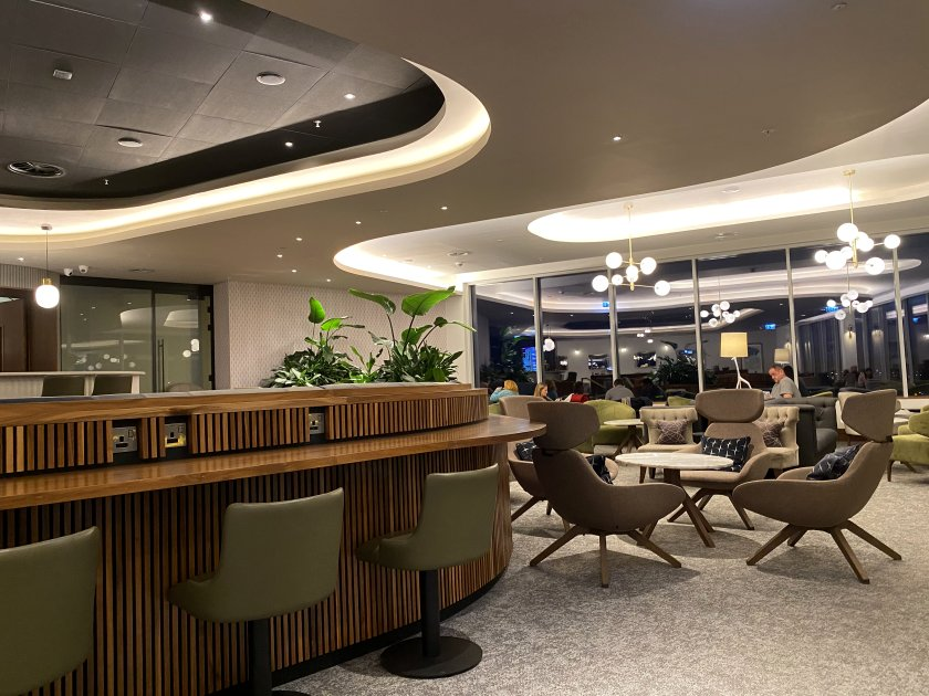 We used the new Aspire Lounge at EDI