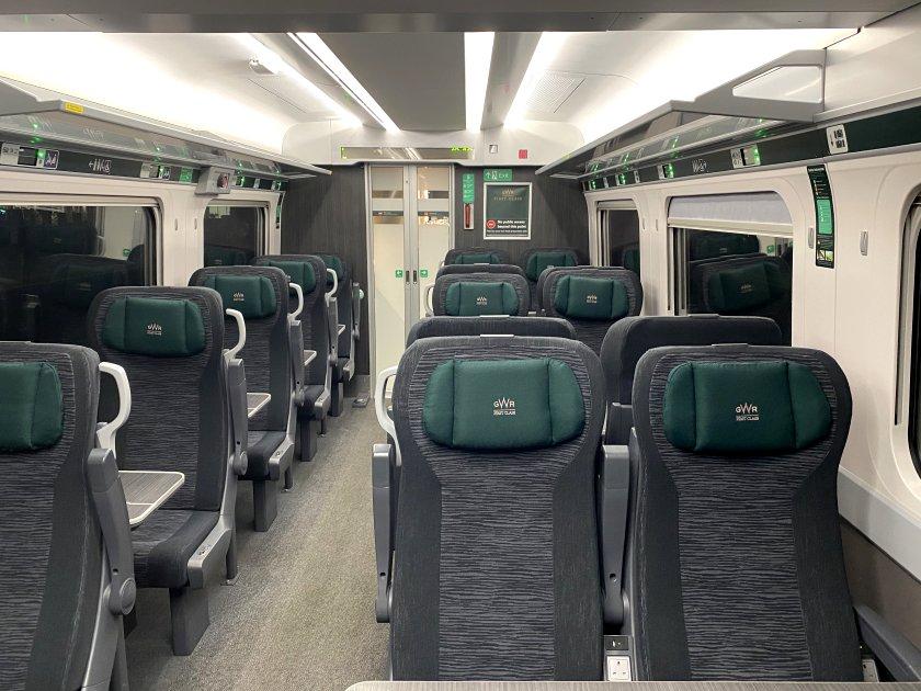 First Class coach on a GWR IET