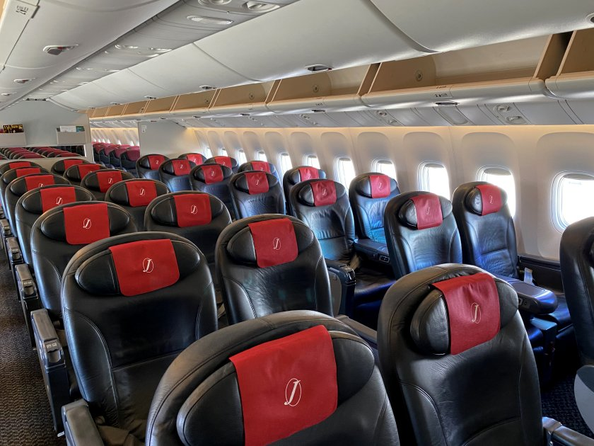 Unexpectedly large Business Class cabin