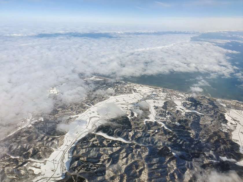 New island, new - and snowy - landscape