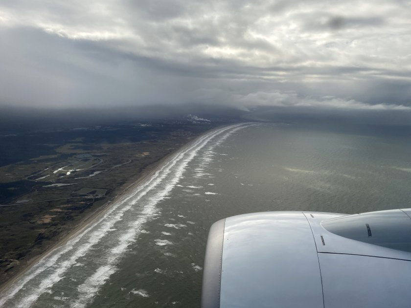 Approaching the Dutch coast and some ominous weather