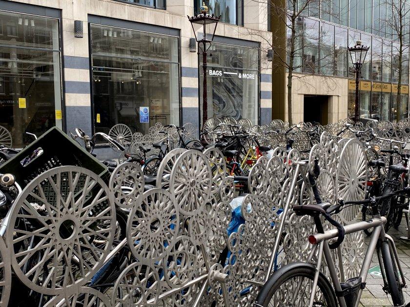 Bike parking in Rokin Straat
