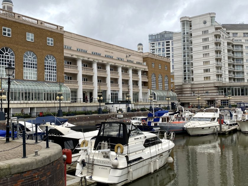 Chelsea Harbour, with part of the hotel