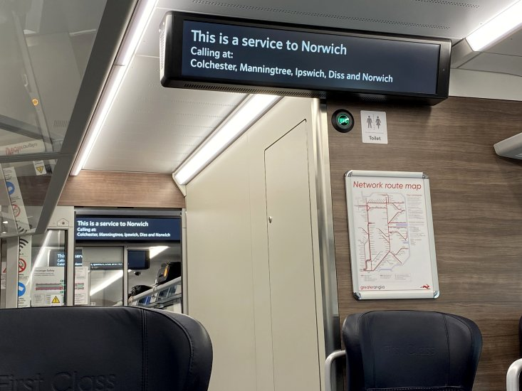 The passenger information has caught up