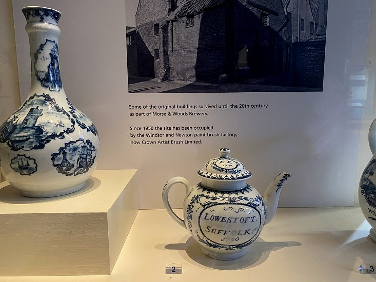 This teapot clearly maintains the East Anglian theme