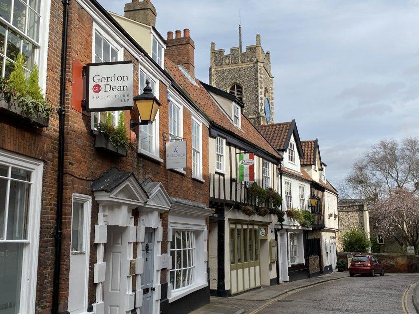 Norwich's version of Princes St is far quieter than Edinburgh's!