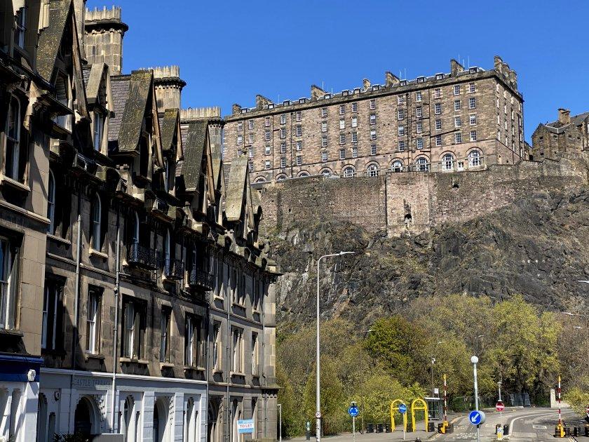 Edinburgh Castle, from Castle Terrace
