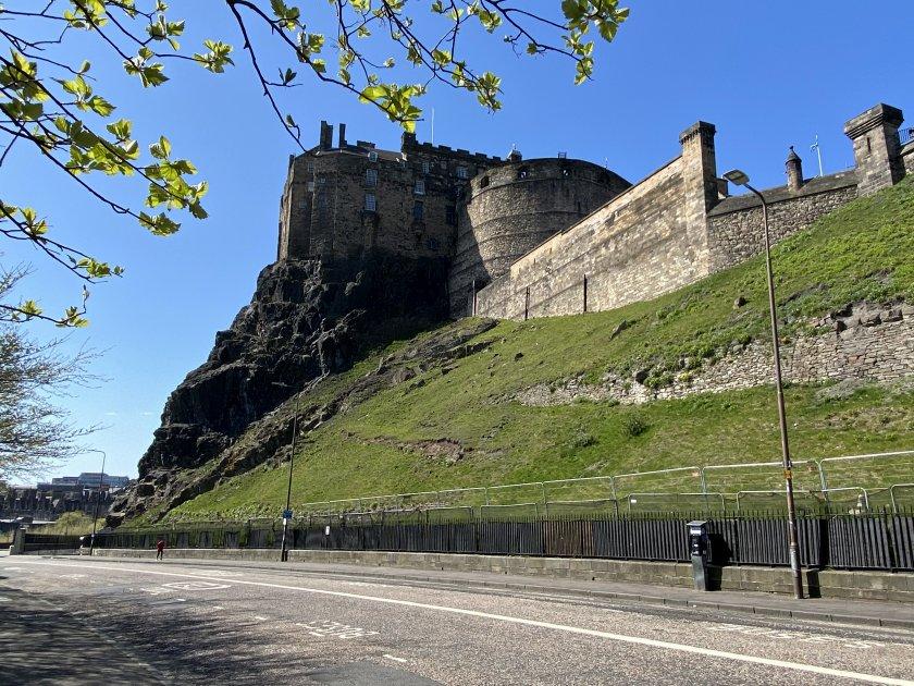 Edinburgh Castle, from Johnston Terrace