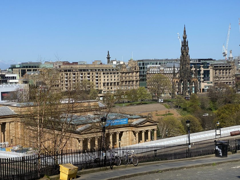 Princes Street, from the Mound