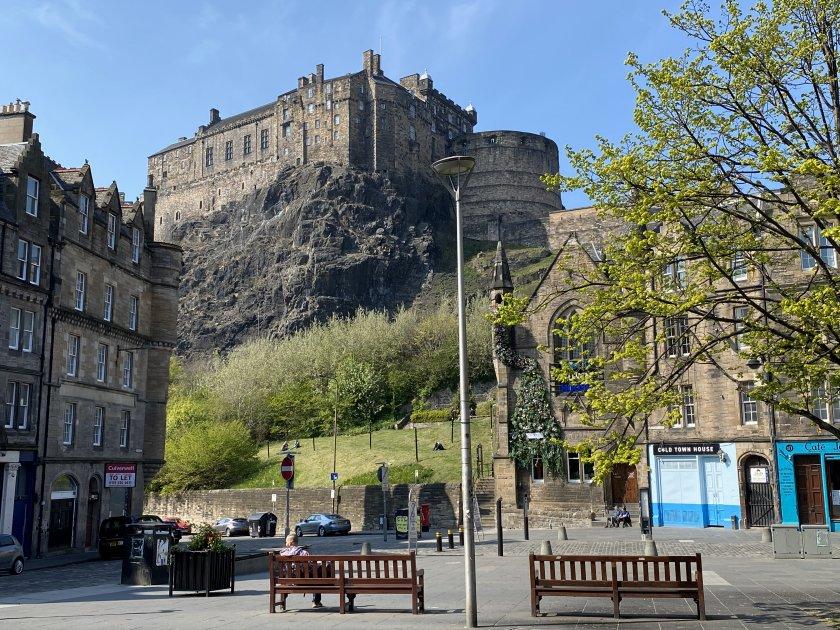 Edinburgh Castle, from Grassmarket