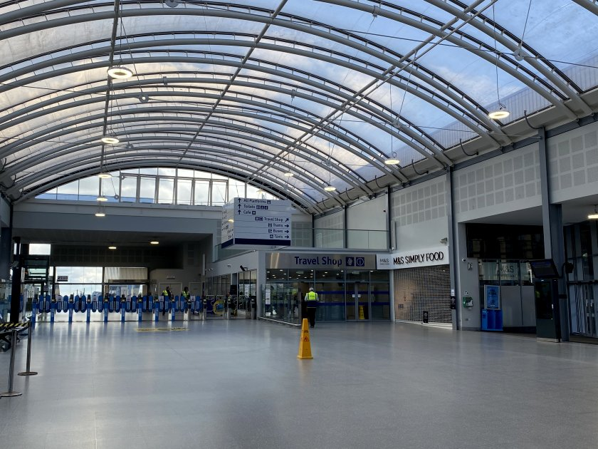 Near-deserted Haymarket Station