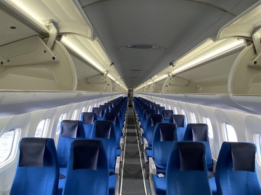 Dash 8 cabin view