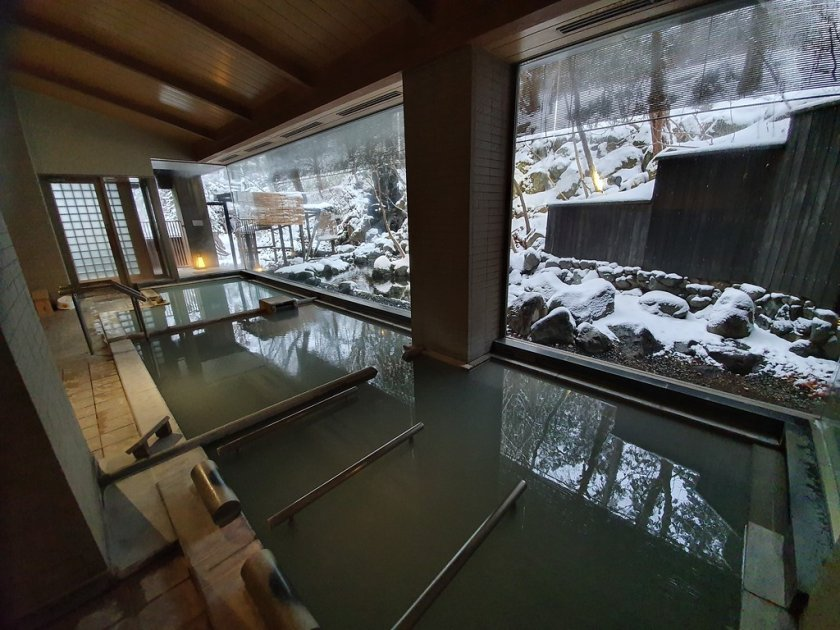 Main hotel indoor baths with varying temperatures and mineral content