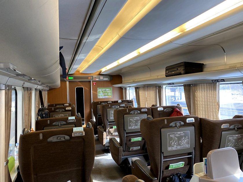 Green Car (1st class) interior