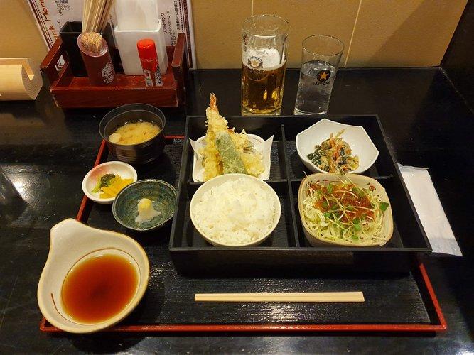 This is Bruce's tempura set