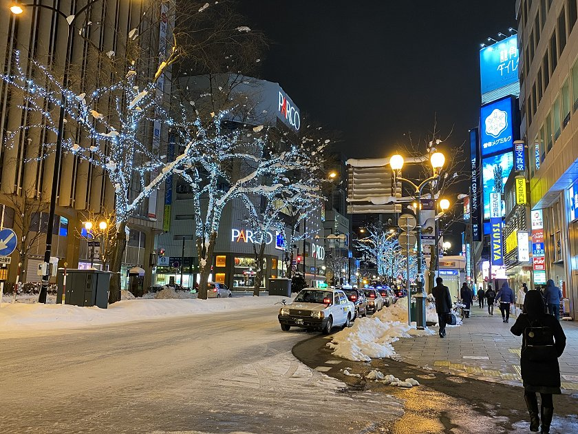 A few wintry scenes back in Susukino