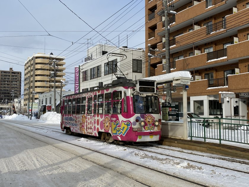 We leave the tram behind and head for the ropeway base station