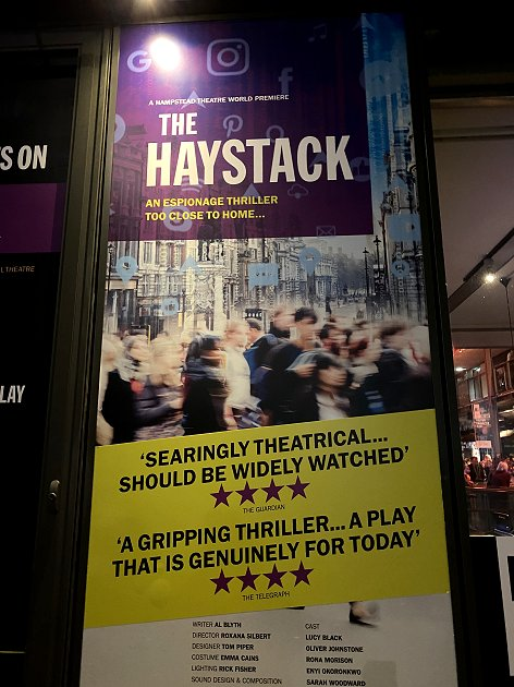 Saturday's play at Hampstead Theatre