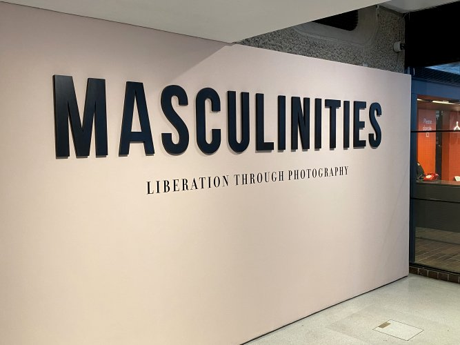 "Sunday afternoon exhibition at the Barbican (""Masculinities"")"