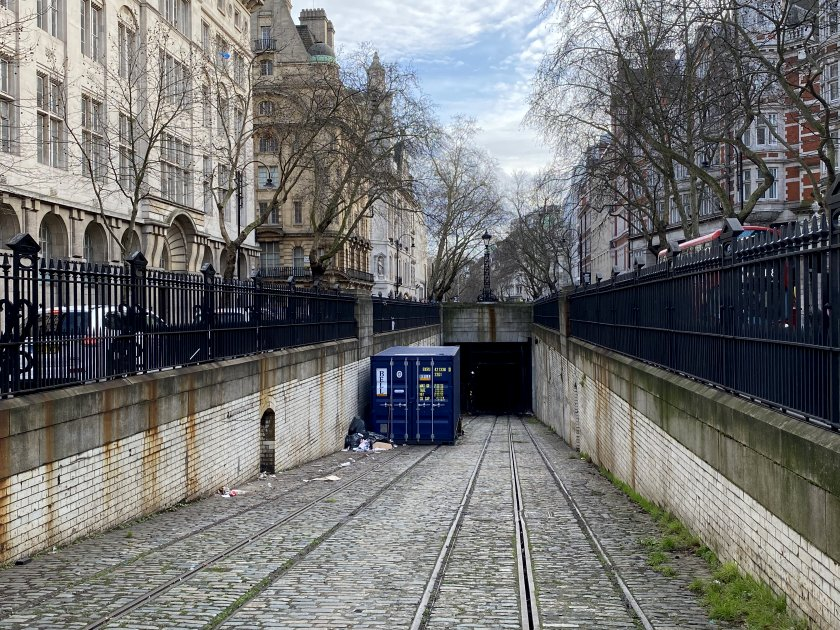 Fellow 'transit geeks' will recognise this as the entrance to the former Kingsway tram tunnel
