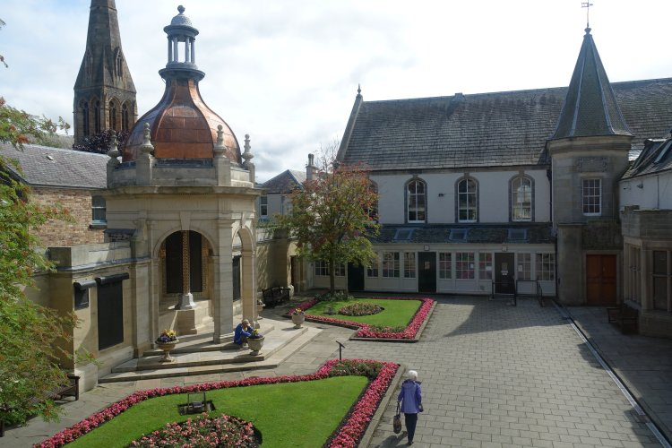 Courtyard view from the museum