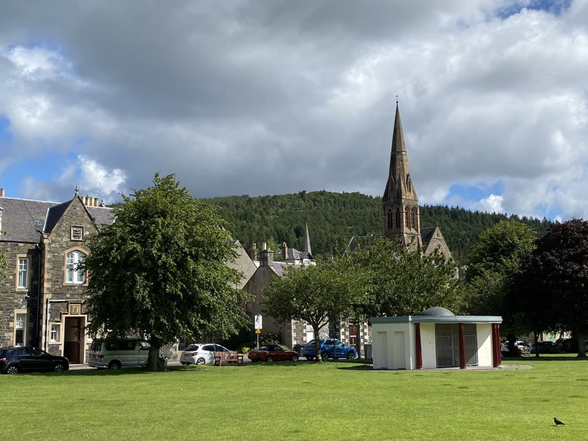 Town view from Tweed Green