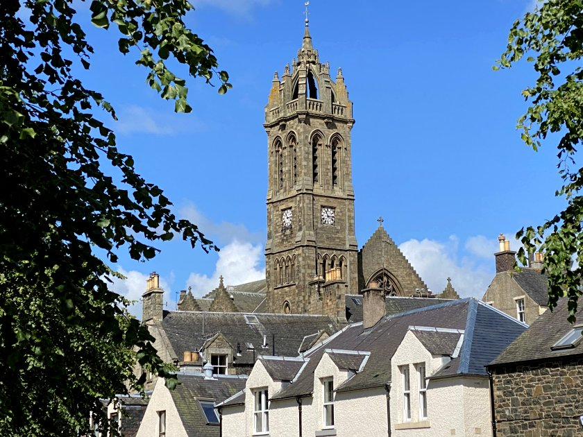 Old Parish Church from Tweed Green