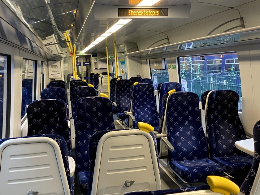 Yes, I really did have an entire carriage to myself on a Glasgow suburban service
