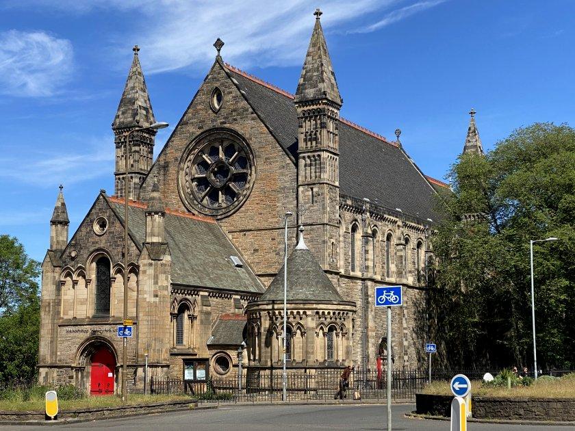 Mansfield Traquair Centre, a former Catholic church