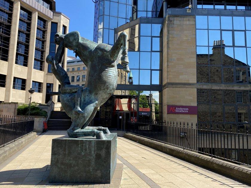 'Horse and Rider' sculpture, off Rutland Square