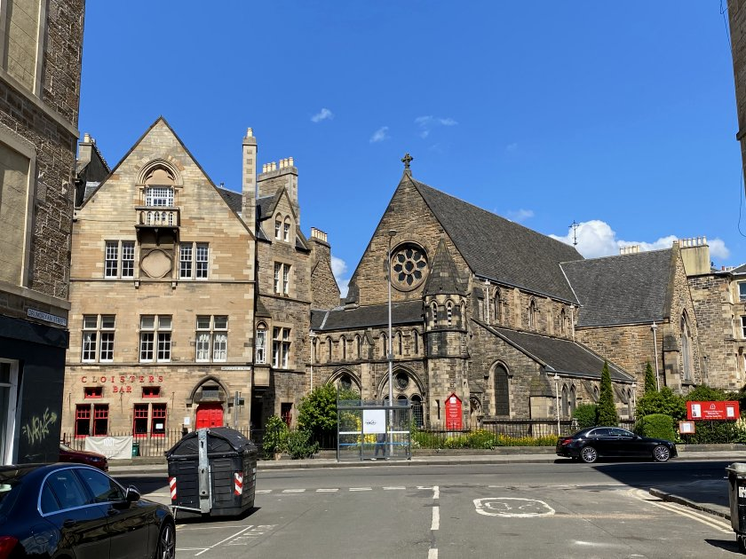 Cloisters Bar with St Michael and All Saints Church, Tollcross