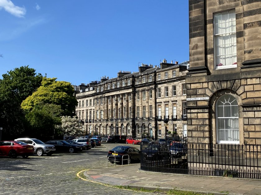 Moray Place from Darnaway Street