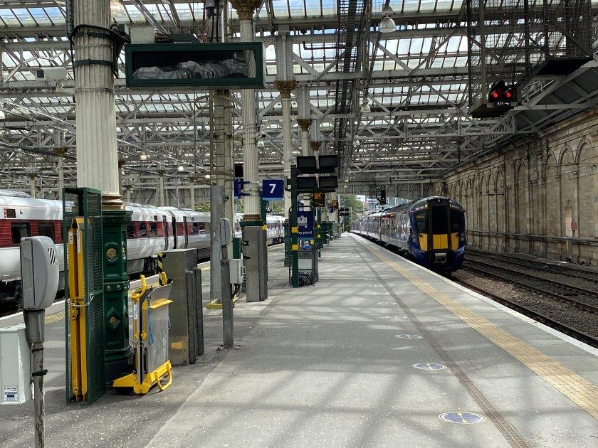 Approaching my North Berwick train at Waverley Station