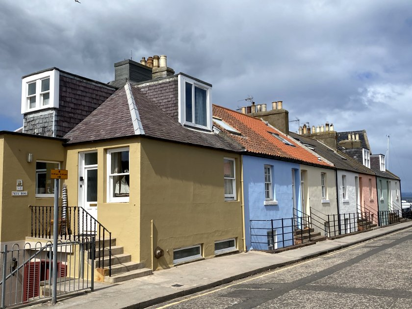 Colourful cottages near the harbour