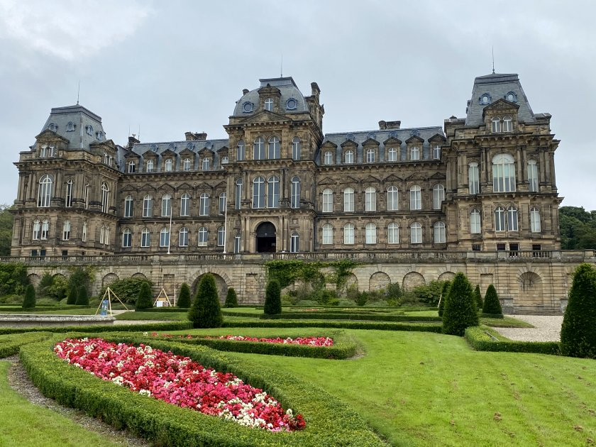 The Bowes Museum from its grounds