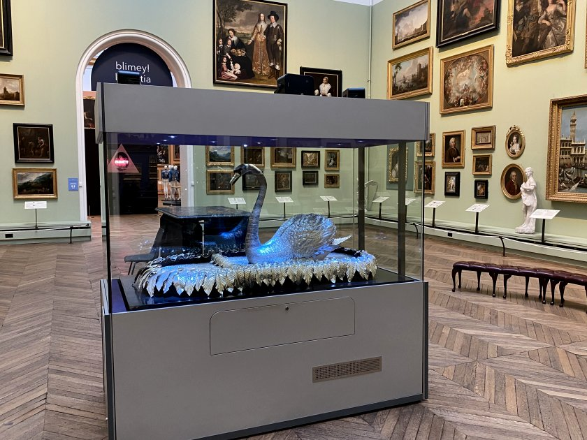 The museum's famous swan automaton