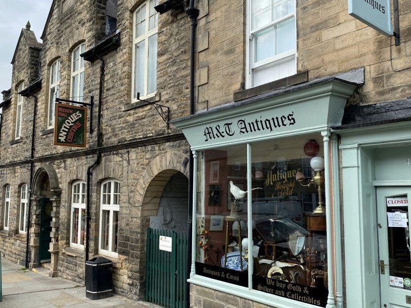 More antique shops