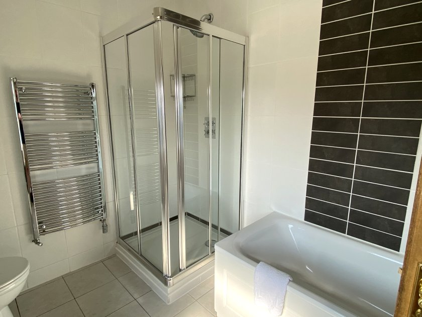 Bright, clean bathroom