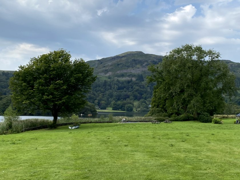 Catching a glimpse of Grasmere (the lake)