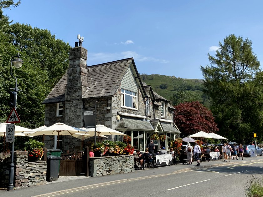 The diminutive Grasmere Brewery, again with Lakeland stonework