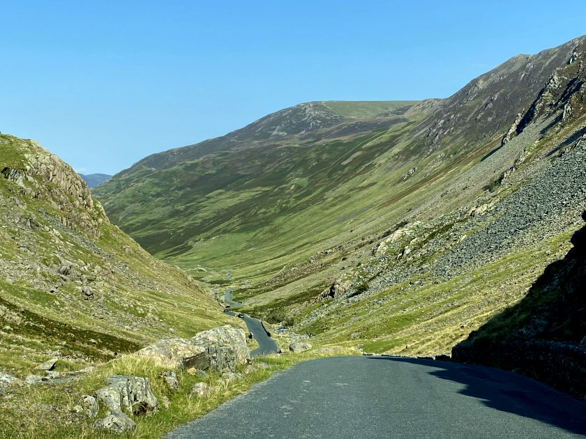 The first four photos show my descent on the western side of the Honister Pass ...