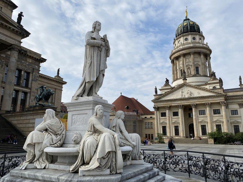"""Schiller Monument and """"French Cathedral"""""""