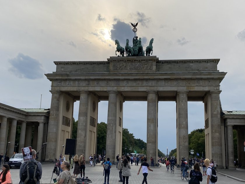 The Brandenburg Gate, which I first saw in No Man's Land. Just look at it now!