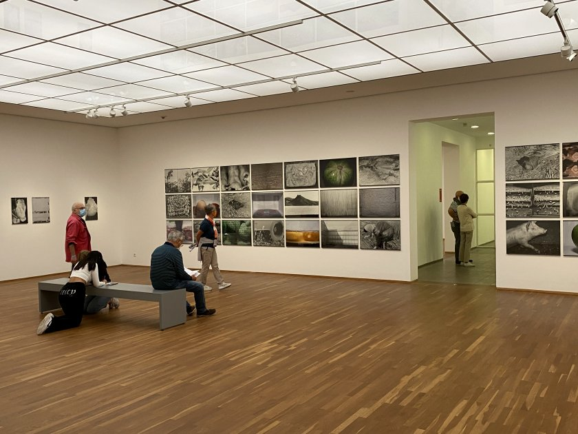 A more conventional gallery space