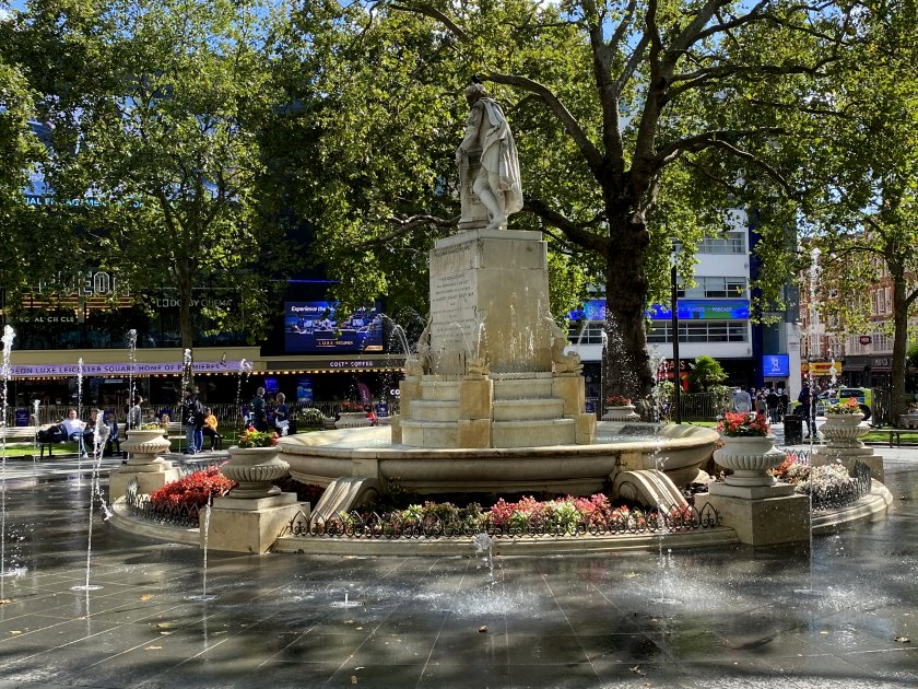 Fountain, Leicester Square