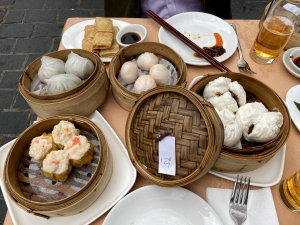 ... and our dim-sum tradition continues, this time in the open air